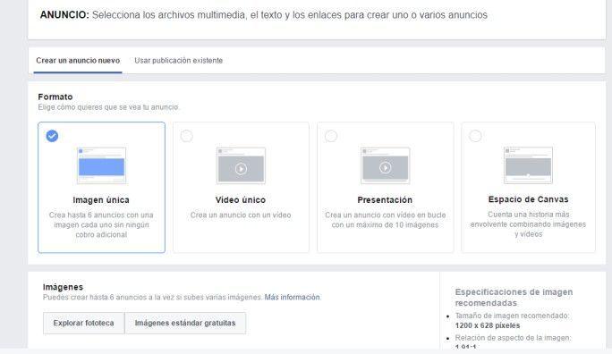 crear anuncio facebook ads